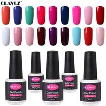 CLAVUZ 8ml UV Gel Nail Polish LED Lamp Gel Lacquer 58 Color Gel Pure Colors Semi Permanent Gel Varnish Primer Cuticle Pusher