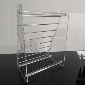 Image 3 - Прозрачная вращающаяся Европейская Подвеска для бусин, держатель для дисплея, браслет, серьги подвески, ювелирные изделия, витрина Shlef подвесной Органайзер