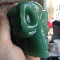 490g Green Aventurine Crystal Skull Carved Reiki Crafts Aline Cristal Skulls Cuarzo Products Ornamenst Hot Sale