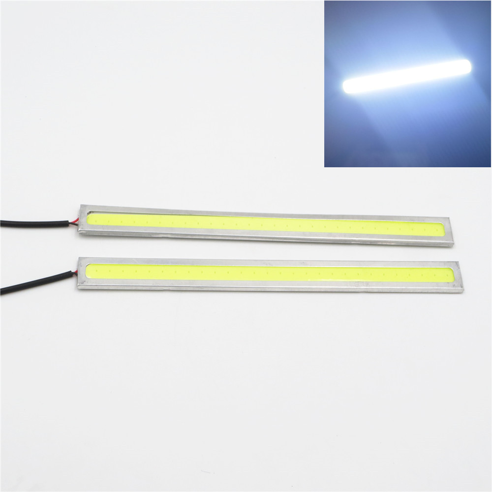 CYAN SOIL BAY White 24V LED COB Car Auto DRL Driving Daytime Running Lamp Fog Light 17cm cyan soil bay car auto t10 25w 30 led smd 4014 lamp parking reverse backup light w16w fog bulb ice blue red amber yellow white
