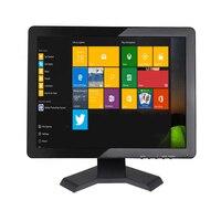 Zhixianda 15 touch screen monitor 1024*768 touchscreen monitor 15 inch usb touch monitor with AV/BNC/VGA/HDMI/USB interface