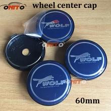 20pcs/set WOLF Logo 56mm 60mm car emblem Wheel Center Hub Cap badge covers For A1 A2 A3 A4 A5 A6 A7 A8 Q1 Q3 Q5 Q7 TT R8 S RS