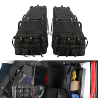Car Styling 2PCS Multi Pockets Storage Organizers Cargo Bag Saddlebag Luggage Tool Bag Gadget Holder For For Jeep Wrangler 07 18