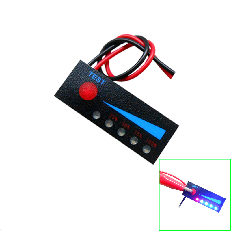 3.7V 2S 3S 4S 12V Lithium Battery Meter Capacity Indicator Electricity Power Level Tester Li-ion Voltage Display For car battery 750nyp p термос biostal охота 0 75л 2 пробки