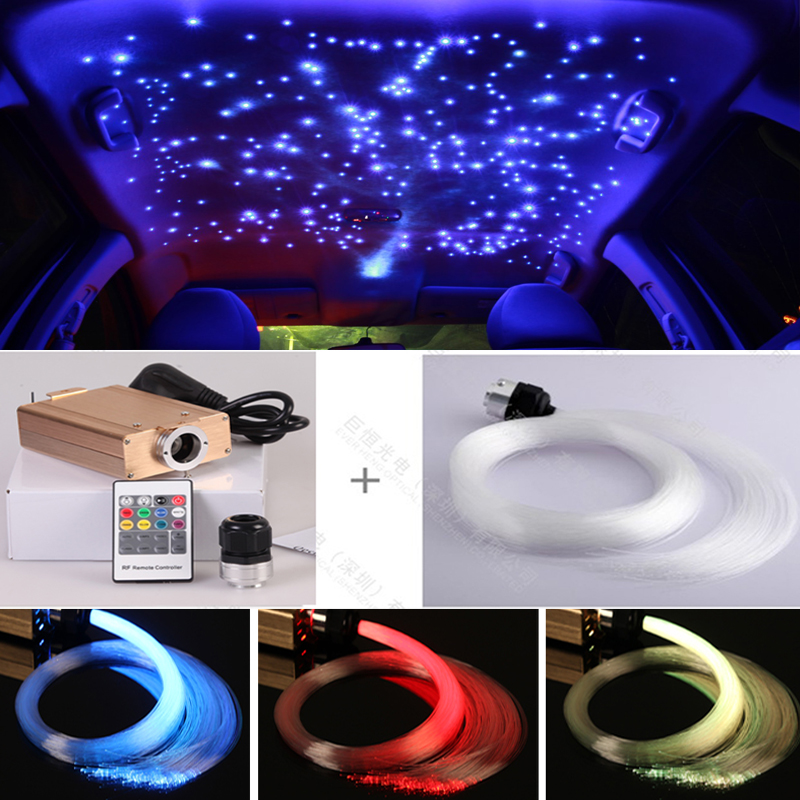 Hot sale car use Colorful optic fiber Star Glow LED Luminous Light kits for van roof decoration 5pcs colorful led luminous optical fiber hair braid decoration for party stage performance