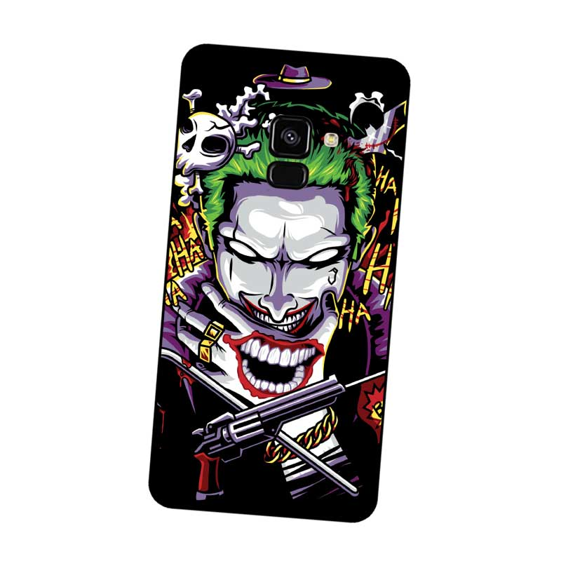 P105 Joker Black Silicone Case Cover For Samsung Galaxy J2 J3 J4 J5 J6 J7 J8 Pro Plus Prime 2018 2017 in Fitted Cases from Cellphones Telecommunications