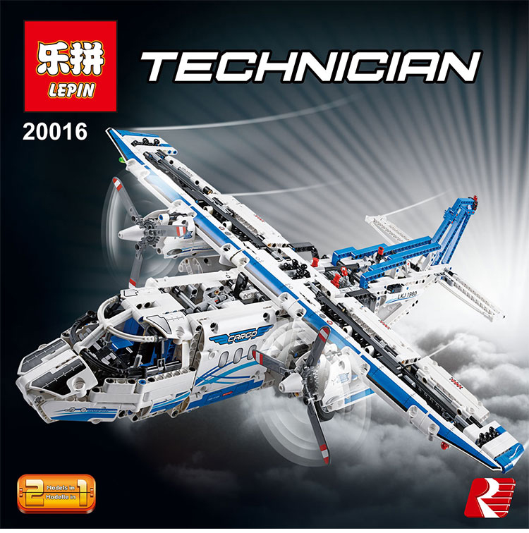 Lepin 20016 1337pcs Technic Ultimate Mechanical Series The Two Changes Cargo Plane Building Blocks Toys Compatible legoed 42025 lepin 22001 pirate ship imperial warships model building block briks toys gift 1717pcs compatible legoed 10210