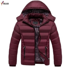 New Arrival Casual Slim Cotton With Hooded Mens Winter Parkas Casaco Masculino Warm Winter Jacket Men Coat Big Size M-4XL