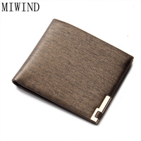 MIWIND 2017 New Design Slim Mens Wallet Thin Mini Small Young Women Lady Purse Nylon Coin