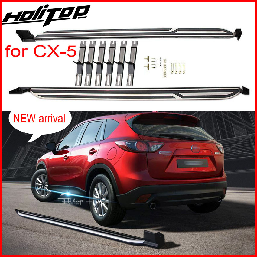 New Arrival running board nerf bars side step bar for Mazda CX-5 2017 2018+, supplied by ISO9001 factory, hot sale in China 4 hammered blk hd oval side step nerf bars running boards 05 11 dakota club cab