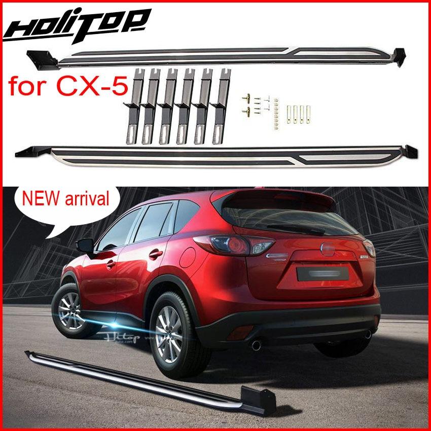 Nouvelle Arrivée marchepied nerf bars side step bar pour Mazda CX-5 2017 2018 +, fourni par ISO9001 usine, vente chaude en Chine