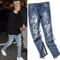 Summer Thin Pnats Mens Skinny Denim Represent Motorcycle Jeans Hip Hop Knee Destroy Design Biker Joggers 30-36 Chinese Size