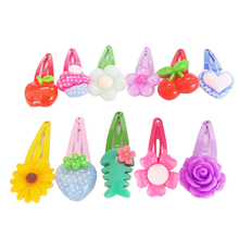 10 PCS Wholesale Mix Color Styles Flower Cartoon Assorted Lovely Kids Girls Woman HairPin Clips Hair Accessories Jewelry