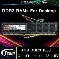 Team Group Team DDR3 Desktop Computer RAMs 4GB 8GB 1600MHz 240pins CL 11 11 11 28