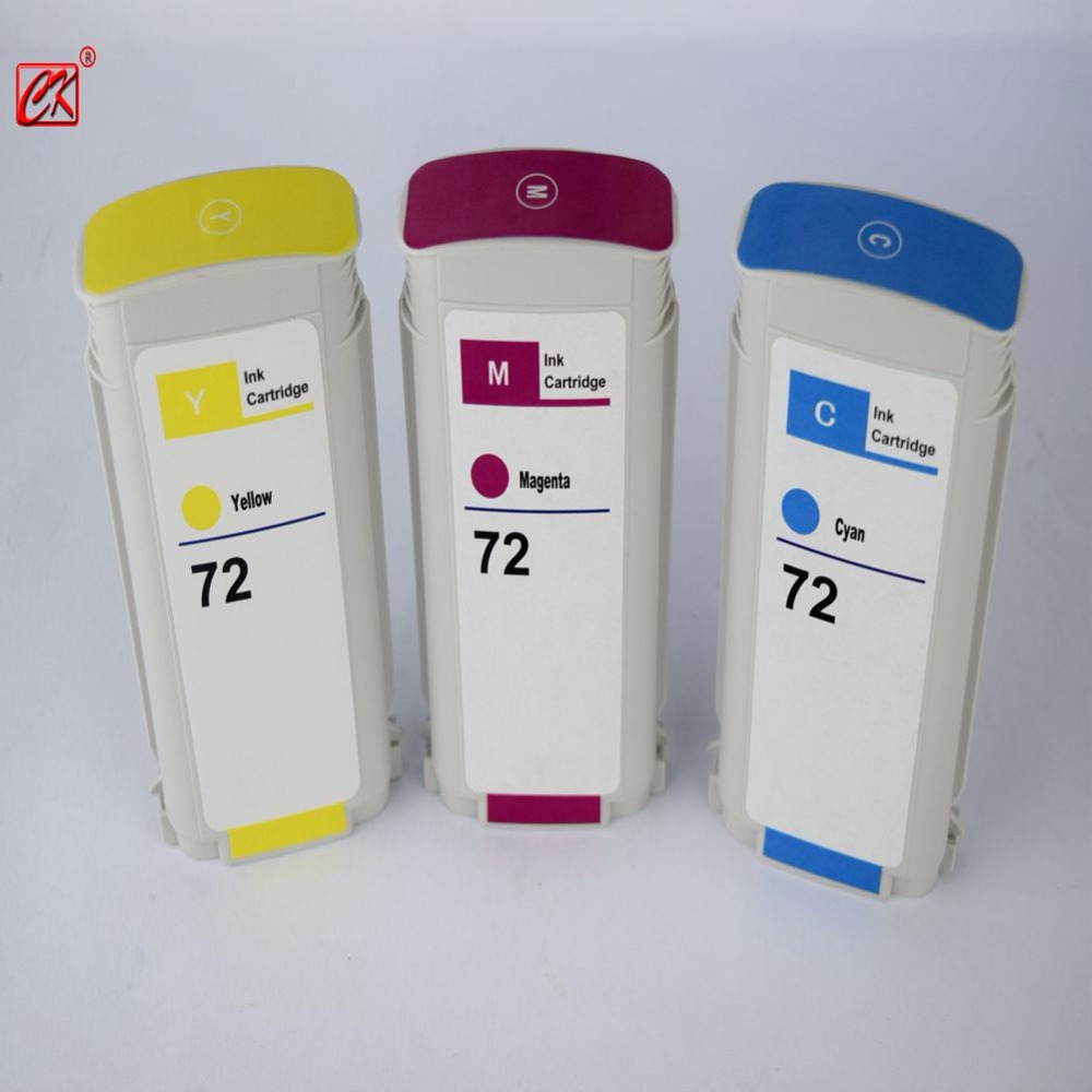 3PK 72 Compatible ink cartridge for HP72 Designjet T1100/2300/T610/ T620/T770/T790/T1120/T1200/ t1300/T2300 5 sets one time cartridge chip for hp 72 for hp designjet t610 t790 t1100 printer