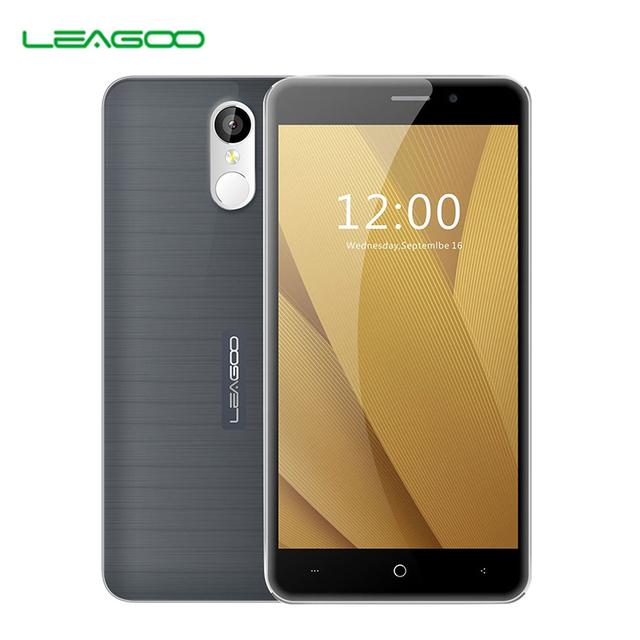 Leagoo m5 plus 16 gb + 2 gb lte 4g teléfono inteligente de identificación de huellas dactilares 5.5 pulgadas MT6737 2.5D Android 6.0 Quad Core 1.3 GHz Dual SIM Teléfono Móvil