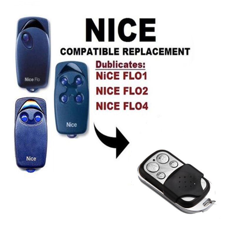 NICE FLO1 FLO2 FLO 4 4channel 433.92MHZ, NICE Garage Door Remote ControlNICE FLO1 FLO2 FLO 4 4channel 433.92MHZ, NICE Garage Door Remote Control