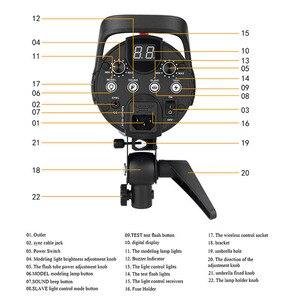 Image 5 - Godox DE300 300W Compact Studio Flash lumière stroboscopique éclairage lampe tête 300Ws 220V GN58 5600K