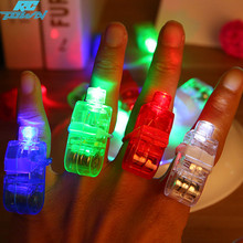 RCtown RCtown 40pcs Multi-color Light Lamp Beams Torch Bright LED laser Finger Ring For Party KTV Bar gift Hot Selling(China)