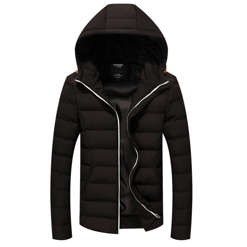 2017 New Winter Parka Men Jacket Coat Outerwear Fashion Hood Padded Quilted Warm Male Jackets Hooded Casual new men winter jacket fashion brand clothing cotton padded down parka male thick warm comfortable outerwear coat hood detachable