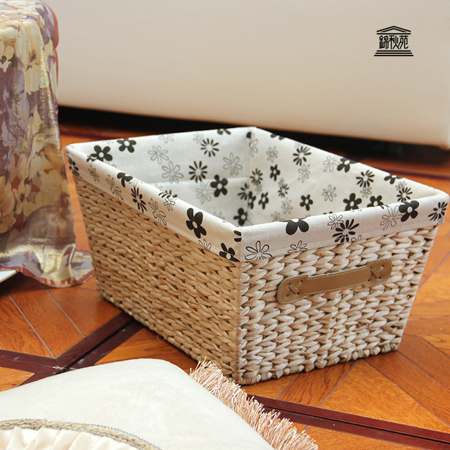 Superbe Straw Storage Box Storage Baskets Organize Your Desktop Glove Box Snack  Debris Rectangular Storage Baskets Idyllic