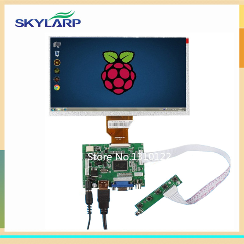 skylarpu 9 Inch for AT090TN10 Raspberry Pi LCD Screen TFT Monitor with HDMI VGA Input Driver Board Controller (without touch) finesource 7 1280 x 800 digital tft lcd screen driver board for banana pi raspberry pi black