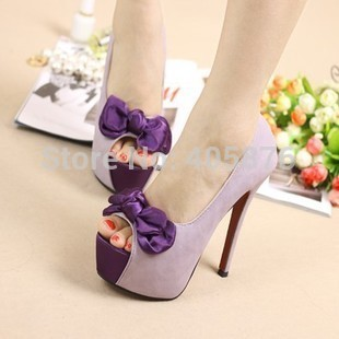 2015 Summer font b Women b font Pumps Red Bottom High Heels Flatform Wedding Shoes Cute