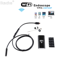 8mm Lens Wifi Android For Iphone Endoscope Camera 1M 2M 3 5M 5M Waterproof Snake Tube