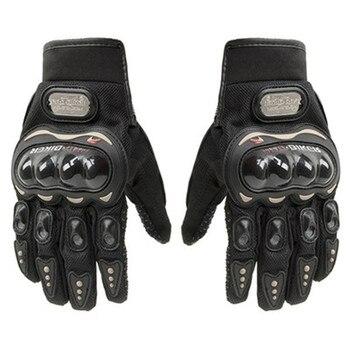Guantes de protección de dedos completos para Moto profesional, para mujer