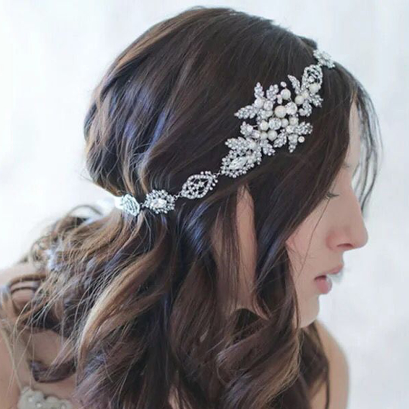 silver rhinestone women hair accessories