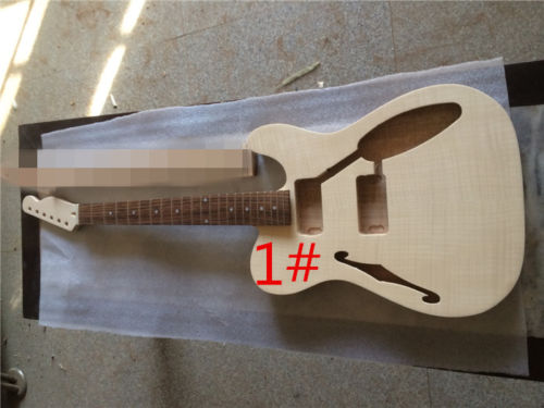 Unfinished Guitar Neck and body for TL Replacement 22 Fret rosewood Fretboard acoustic guitar neck fingerboard fretboard for guitar parts replacement rosewood zebrawood veneer