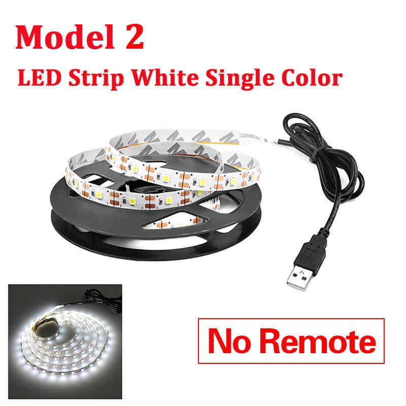 AIMENGTE DC5V Водонепроницаемая SMD 2835 USB Светодиодная лента для кухонного шкафа RGB Светодиодный светильник 1-5 м для гостиной настенная лампа для ТВ