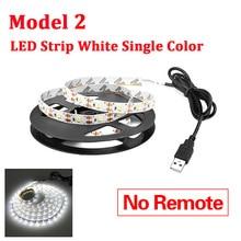 Indoor Lighting Waterproof LED Strip Light Cabinet Kitchen Remote Control LED Night Lamp 1-5m Bedroom Mural TV Decoration Lights