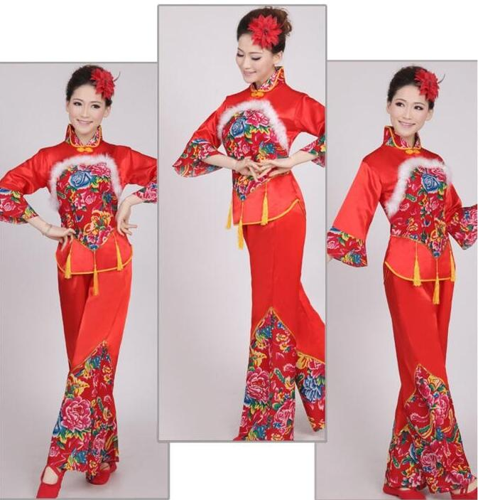 Hanfu national costume Ancient Chinese Cosplay Costume  Chinese HanfuYangko Stage Dancing Clothes Costume