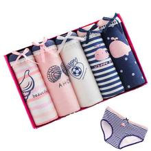 5 adet/grup Pantis kadın iç çamaşırı pamuk külot seksi külot kadın dantel Lingeries Cueca Calcinhas VS pembe şort külot kızlar
