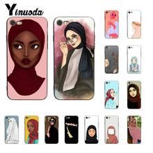 Yinuoda Muslim Islamic Black  Cartoon Girl Luxury PhoneCase for iPhone 8 7 6 6S 6Plus X XS MAX 5 5S SE XR 10 11 11pro 11promax yinuoda the vampire diaries ian somerhalder luxury phonecase for iphone8 7 6 6s 6plus x xs max 5 5s se xr 10 11 11pro 11promax