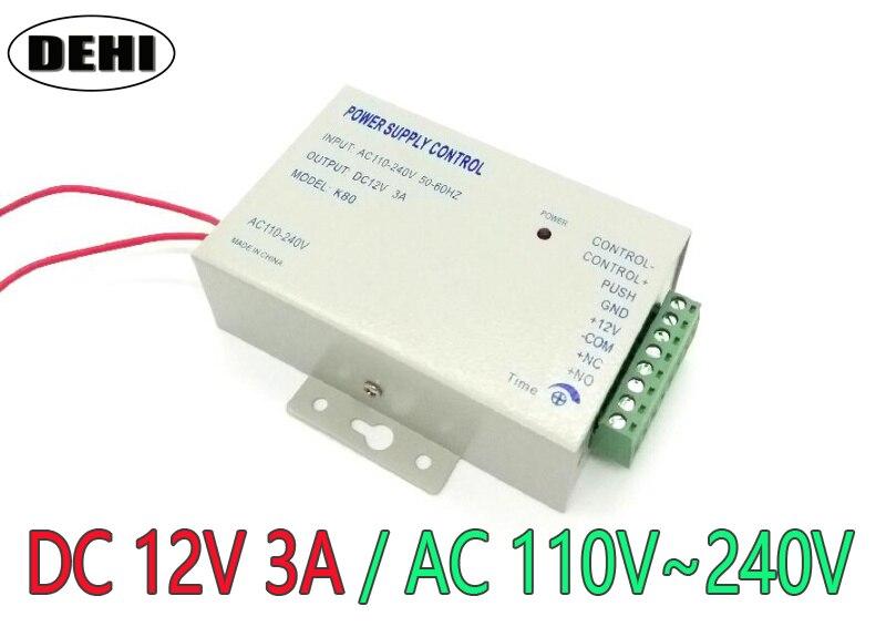 Calidad Superior DC 12 V nueva puerta Control DE ACCESO sistema de alimentación del interruptor 3a/AC 110 ~ 240 V