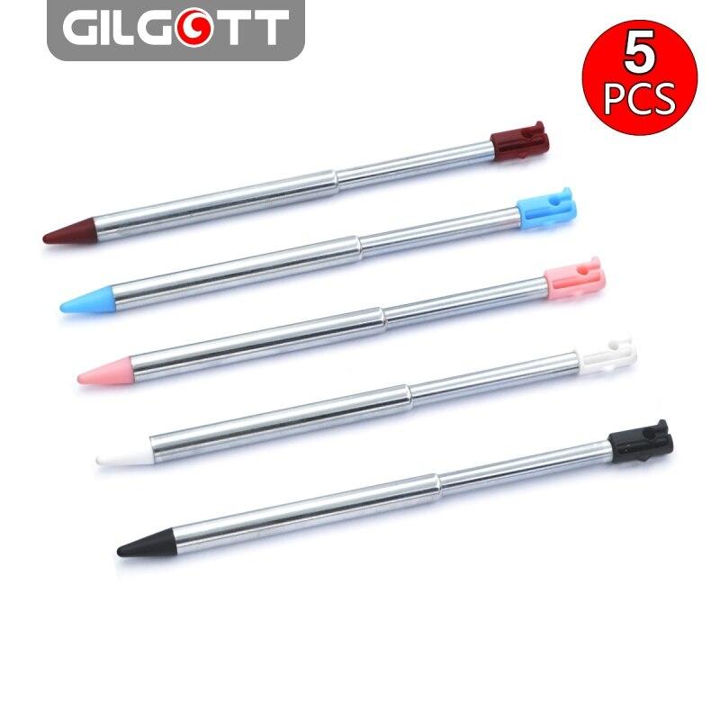 GILGOTT 5 шт цветов металлический Выдвижной Стилус сенсорная ручка для Nintendo 3DS
