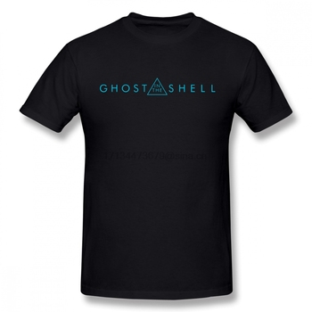 Camiseta Ghost In The Shell para hombre, Popular Camiseta de manga corta de algodón de talla grande para hombre