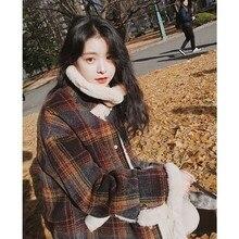 Autumn Winter Women Long Sleeve Coat Jacket Turn Down Short Tops Female Basic
