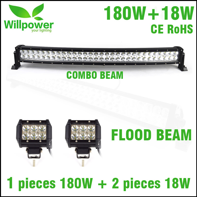 LED Auto Work Light 18w 4inch With Waterproof Offroad Curved 32 inch LED Light Bar Beam