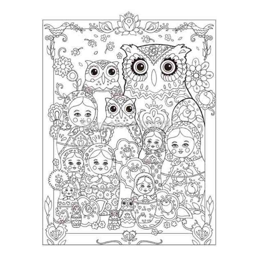 Creative Haven Coloring Book OWLS Coloring Book ; books for Children ...