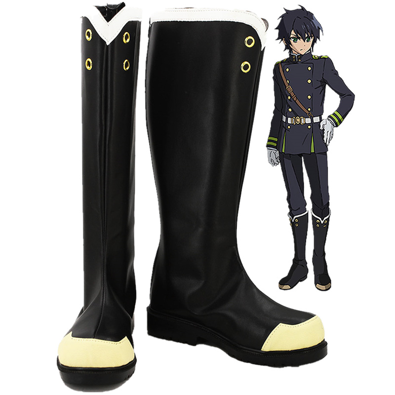 Seraph of the End Yuichiro Hyakuya Owari no Seraph Cosplay Stivali scarpe su misura
