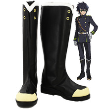 цены Seraph of the End Yuichiro Hyakuya Owari no Seraph Cosplay Boots Shoes custom-made