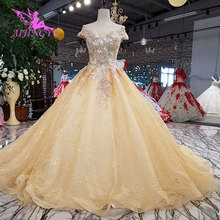 AIJINGYU Gown Material Country Sexy Simple Wedding Dresses