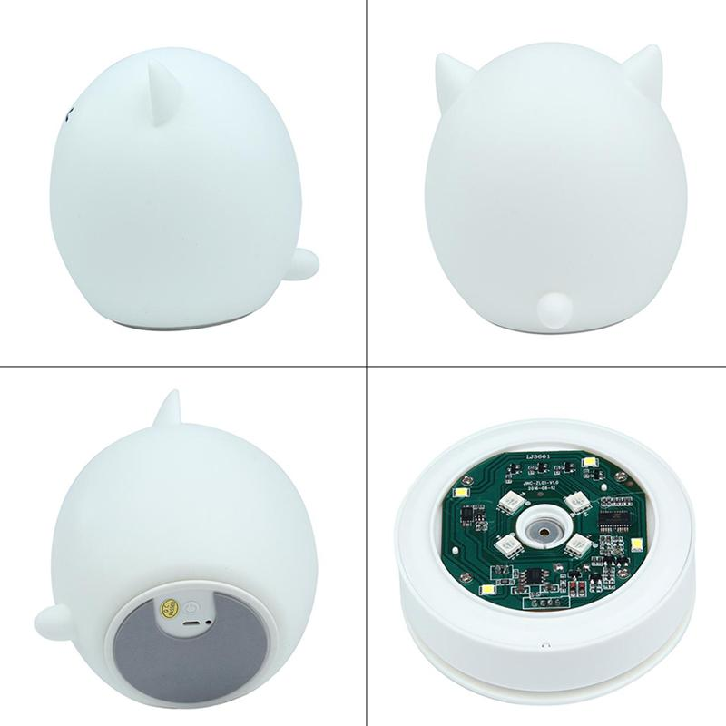 LED Children Night Light 7-Color Silicone Soft Baby Nursery Lamp For kids
