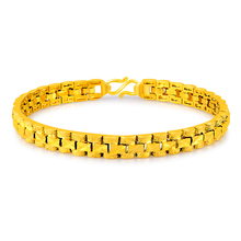 trendy jewelry 24k gold filled chain bracelet for women men fine accessories gifts female