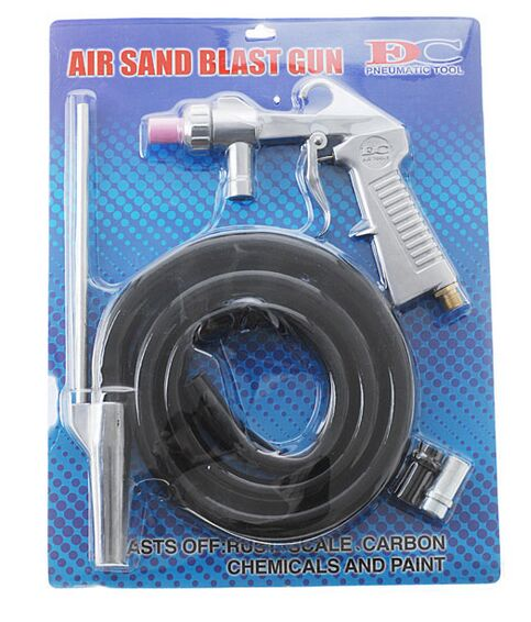 Free Shipping HIGH QUALITY Sandblasting Gun Kit with 3 nozzles цена