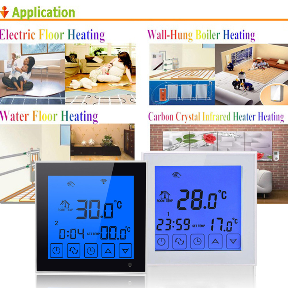 WiFi Thermostat Temperature Controller LCD Touch Screen Wireless Room Underfloor Heating Controller Thermoregulator Drop ship