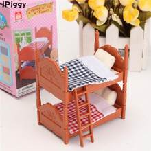 iPiggy DIY Miniatura Dollhouse Fluctuation Bed Acessories Sets For Mini Doll House Miniatures Furniture Toys Gifts For Children(China)